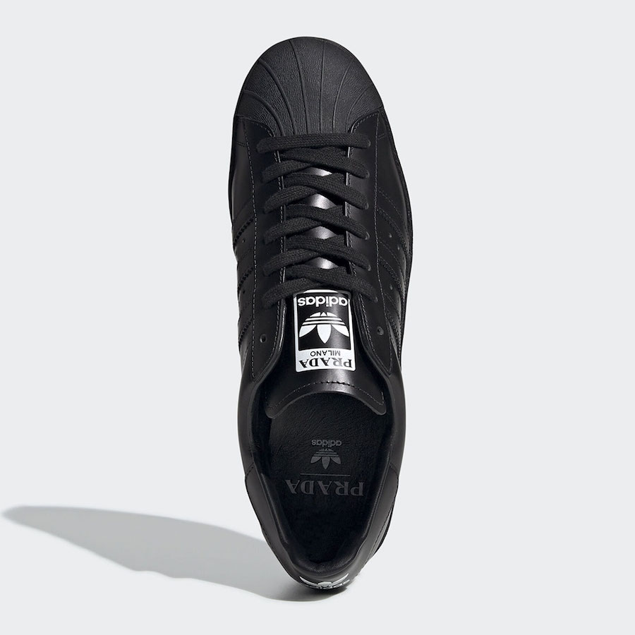 Prada adidas Superstar Black FW6679 Release Date