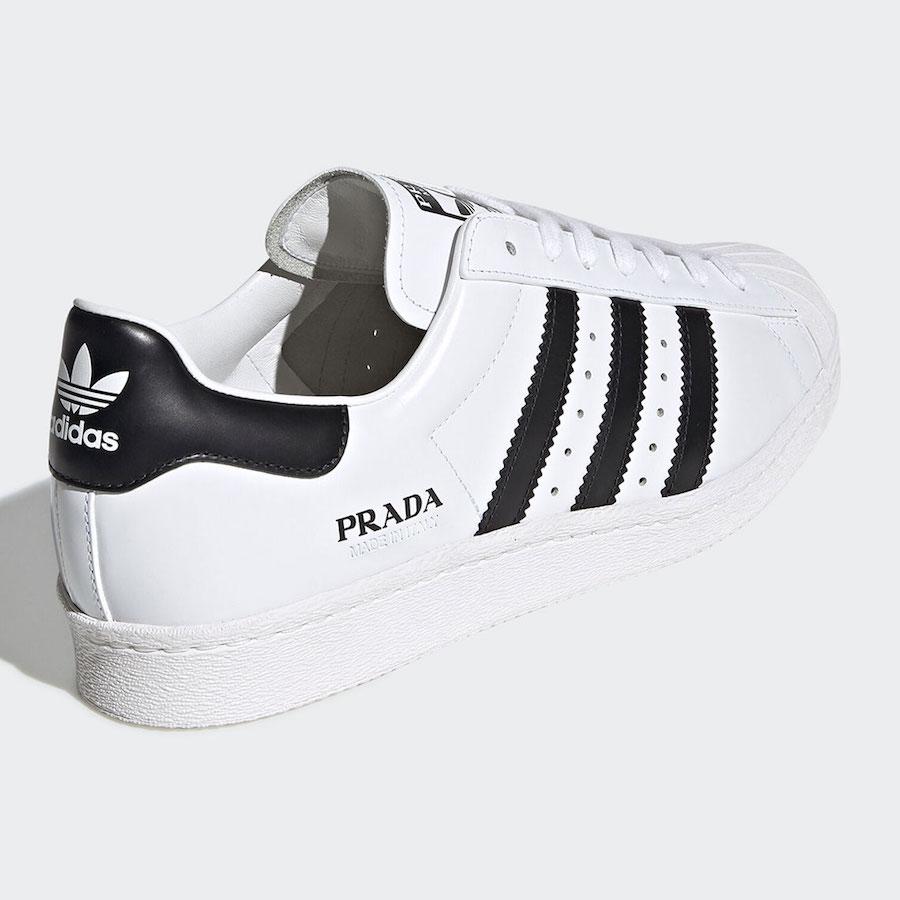 Prada adidas Superstar White Black FW6680 Release Date