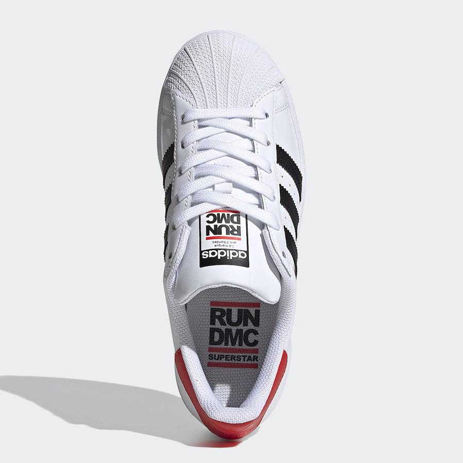 Run DMC adidas Superstar White Release Date