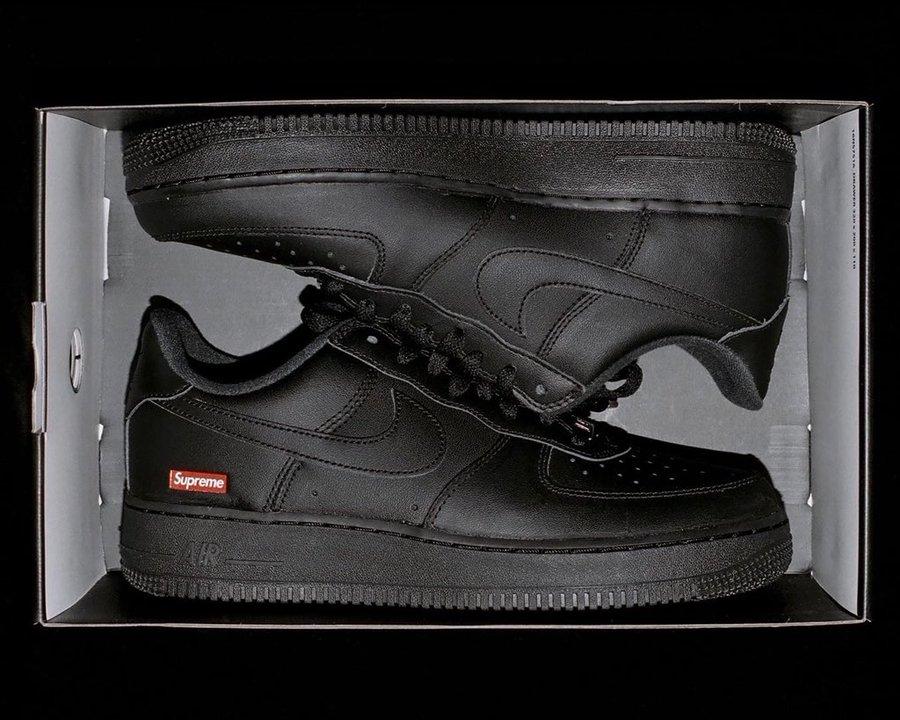 Supreme Nike Air Force 1 Black CU9225-001