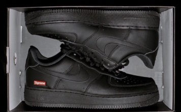 Supreme Nike Air Force 1 Black CU9225-001