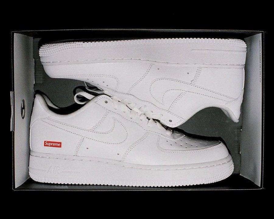 Supreme Nike Air Force 1 White CU9225-100