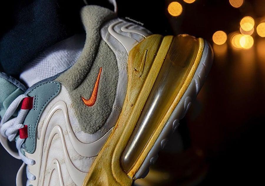Travis Scott Nike Air Max 270 React CT2864-200 On Feet
