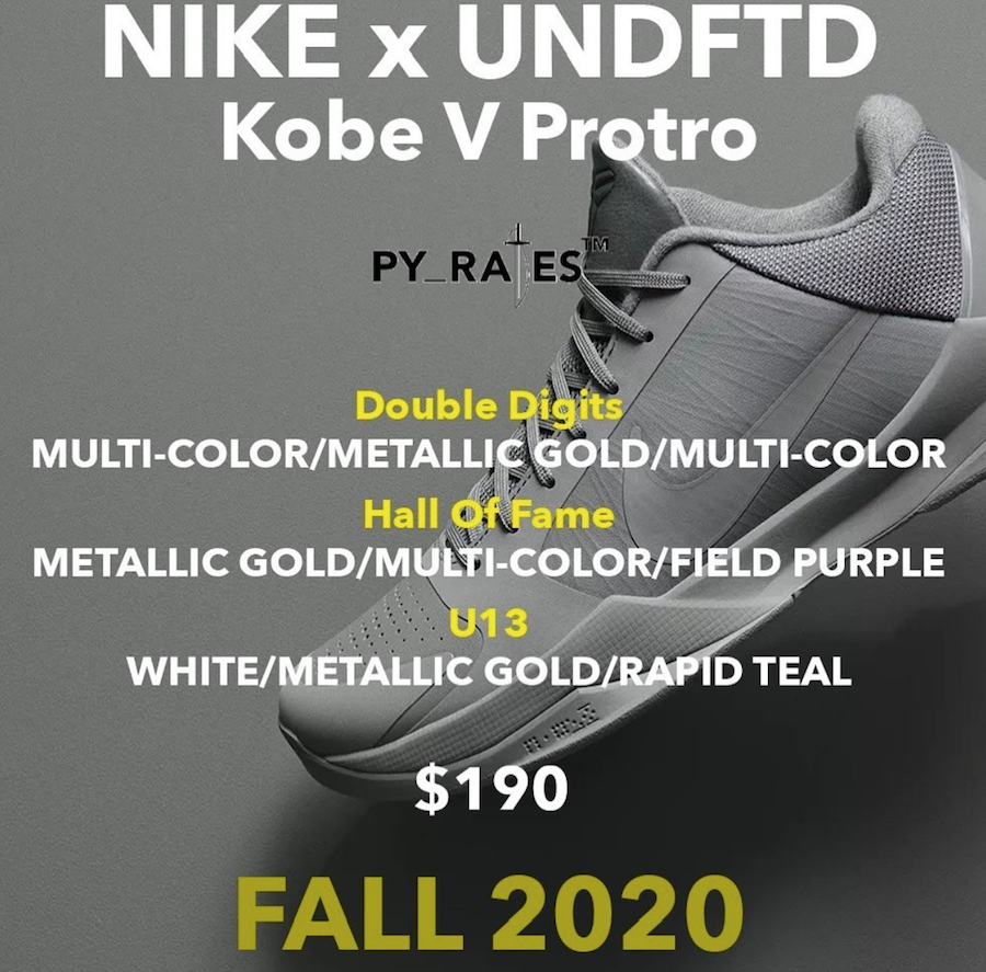 Undefeated Nike Kobe 5 Protro Release Date Info