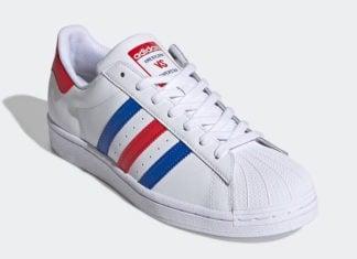 adidas Americana vs. Superstar White Blue Red FV2806 Release Date Info
