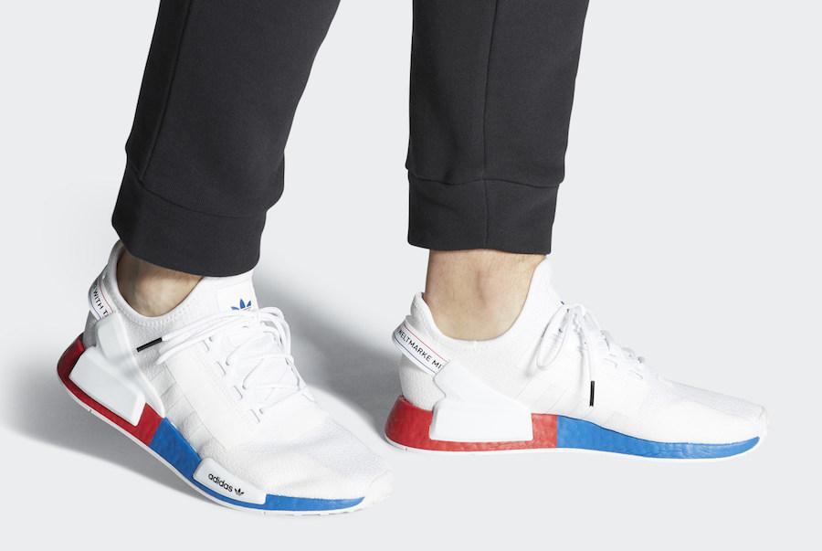 adidas NMD Primeknit Red, White & Blue Stripes | Complex