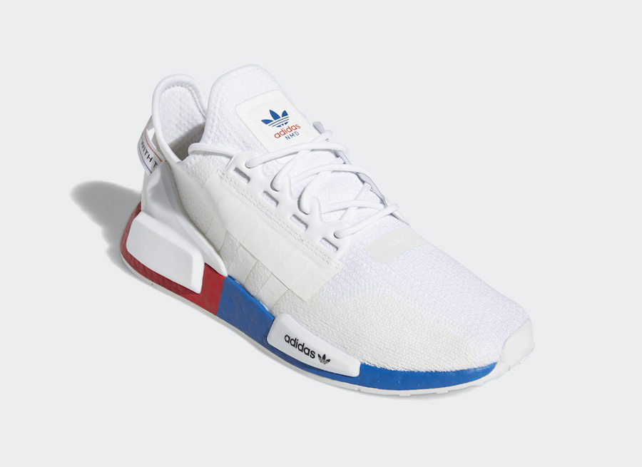 adidas NMD R1 V2 White Red Blue FX4148 Release Date Info