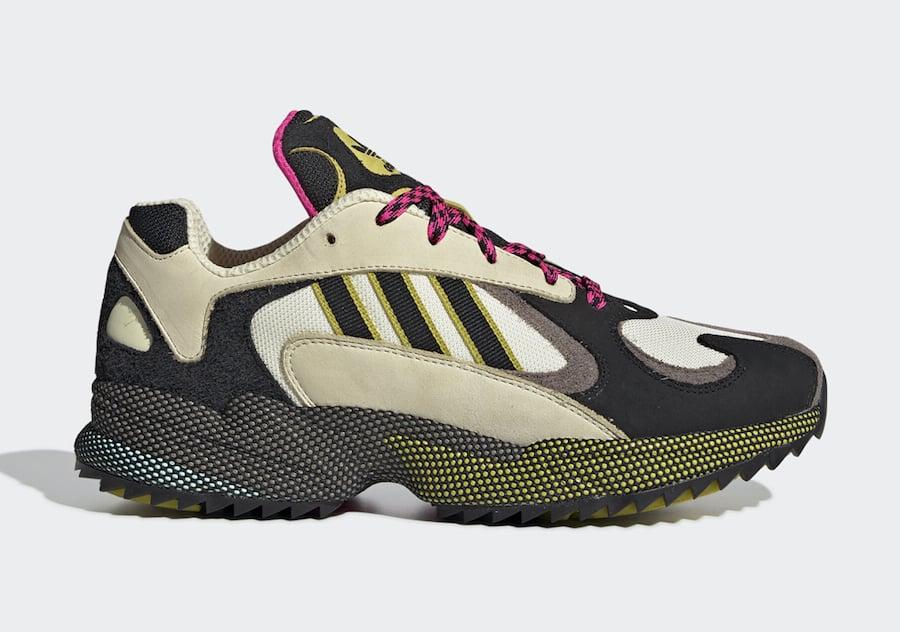 adidas Yung 1 Trail Khaki Black Yellow Pink EF5338 Release