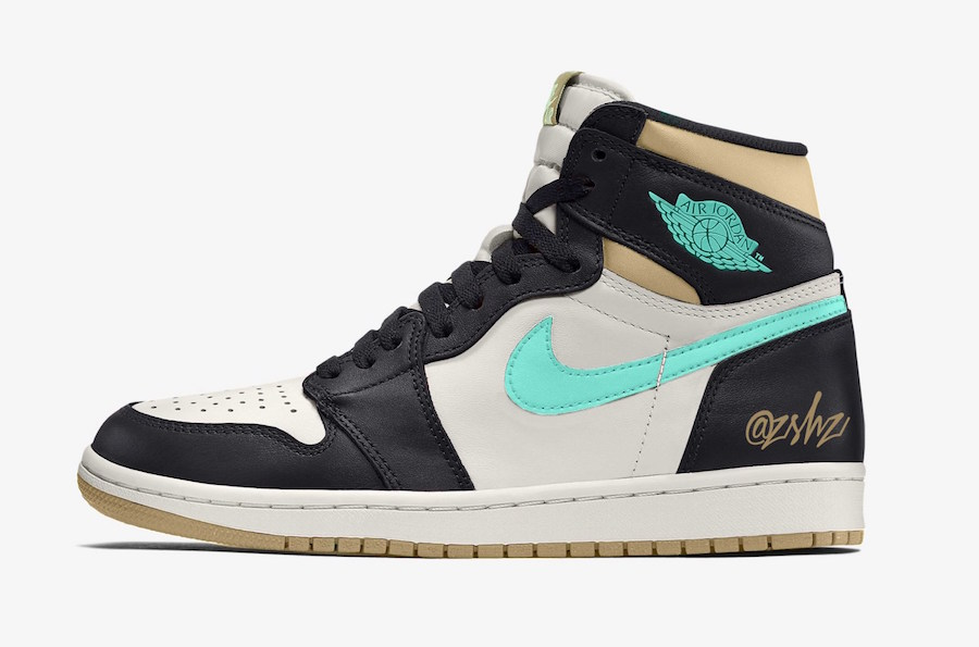 Air Jordan 1 Black Light Army Sail Fresh Mint 555088-033 Release Date Info