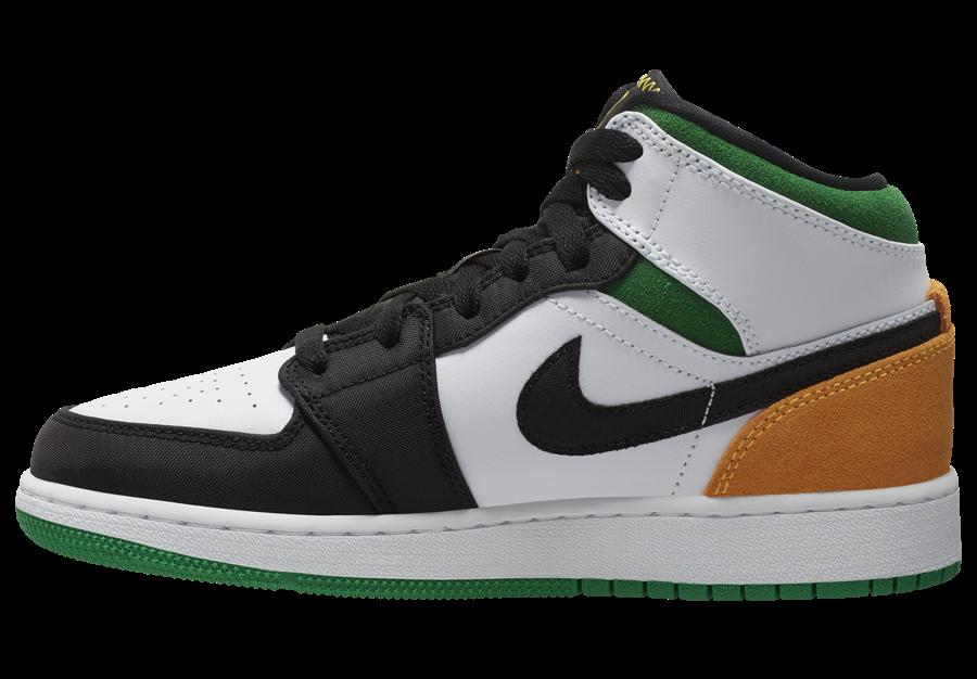 Air Jordan 1 Mid GS Laser Orange Lucky Green BQ6931-101 Release Date Info