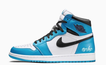 Air Jordan 1 White University Blue Black 555088-134 Release Date Info