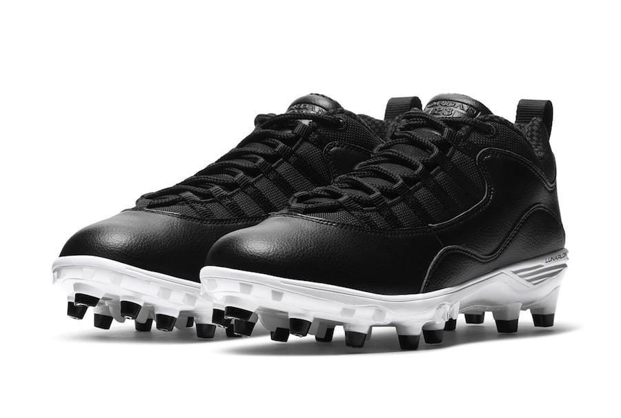 Air Jordan 10 Black White Baseball Cleats Release Date Info