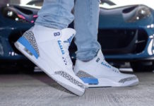 Air Jordan 3 UNC CT8532-104 On Feet