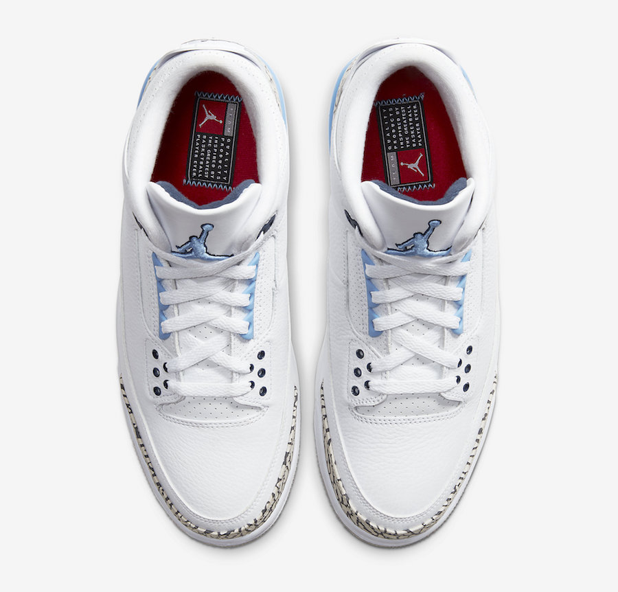 Air Jordan 3 UNC CT8532-104 Release Info