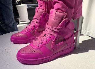 Ambush Nike Dunk High Pink Fuchsia Release Date Info