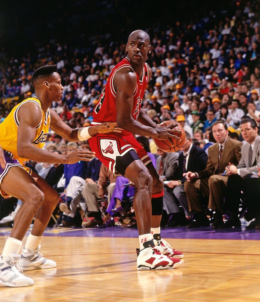 Michael Jordan Air Jordan 6 Carmine 1991