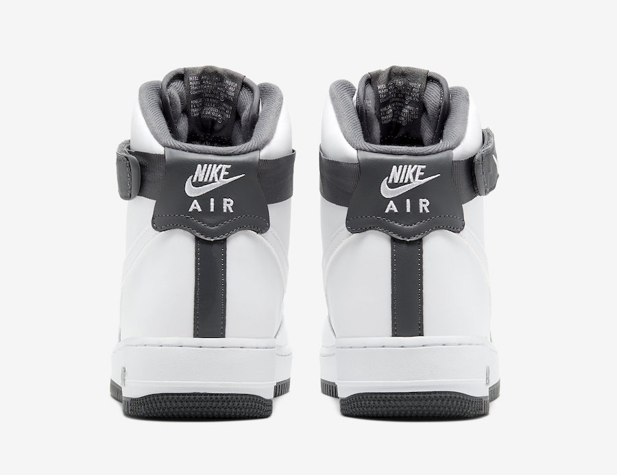 Nike Air Force 1 High White Charcoal CD0910-100 Release Date Info