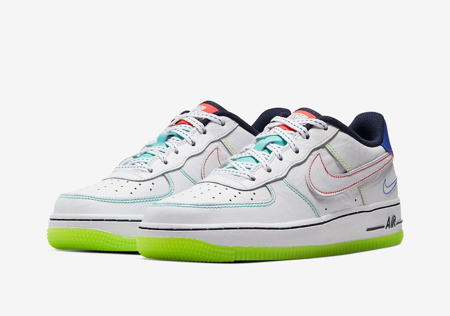 Nike Air Force 1 Low GS Nike Air Force 1 Low Outside The Lines CV2421-100 Release Date ...