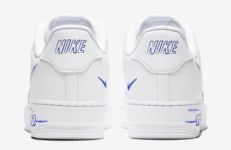 Nike Air Force 1 Low Sketch White Royal Blue CW7581-100 Release Date Info