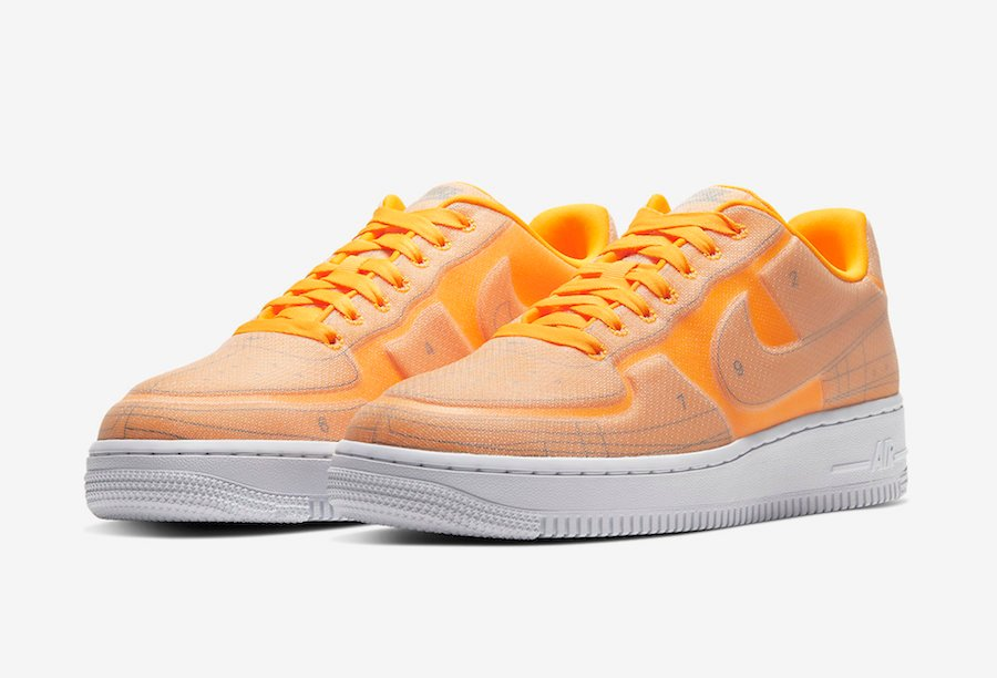 Nike Air Force 1 LX Blueprint Laser Orange CI3445-800 Release Date Info