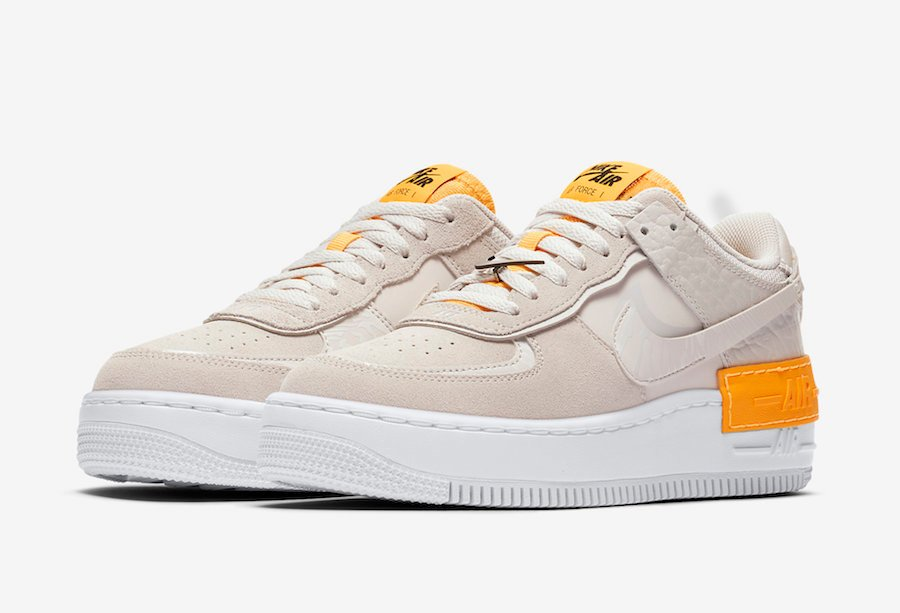 Nike Air Force 1 Shadow Beige Orange CU3446-001 Release Date ...