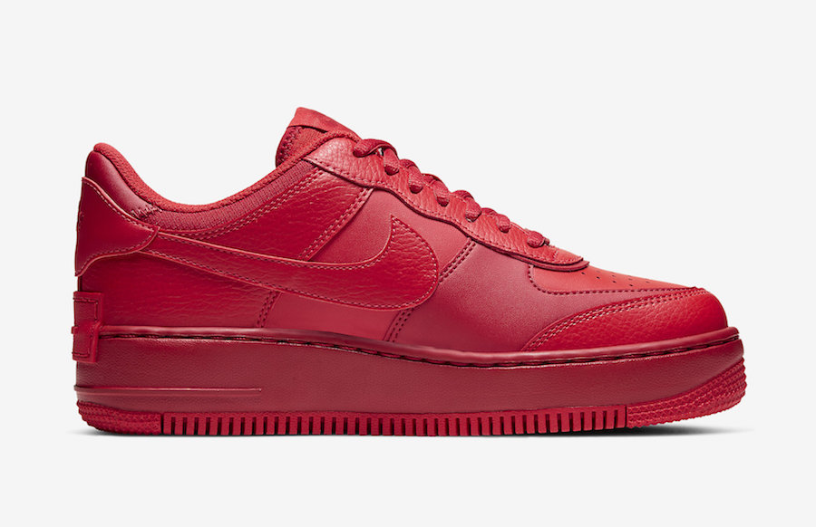 Nike Air Force 1 Shadow University Red CU3012-661 Release Date Info