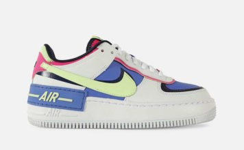 Nike Air Force 1 Shadow White Barely Volt Sapphire Fire Pink CJ1641-100 Release Date Info