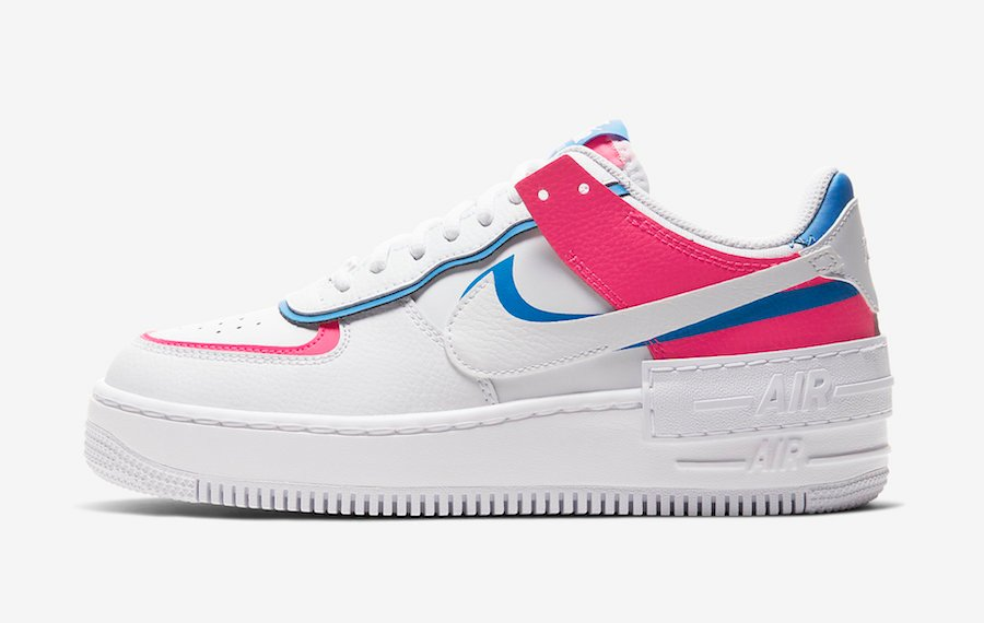 Nike Air Force 1 Shadow White Pink Blue CU3012-111 Release Date Info