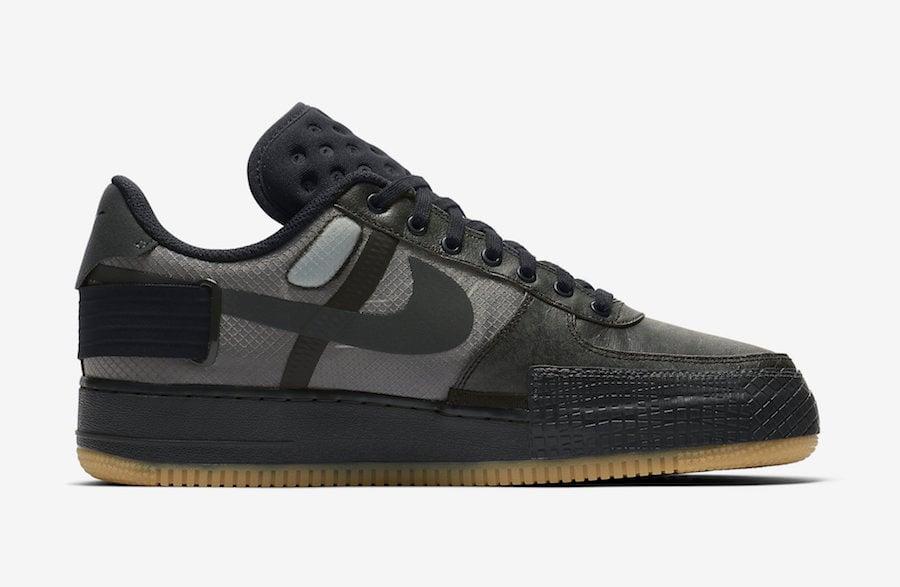 Nike Air Force 1 Type Black Gum CJ1281-001 Release Date Info