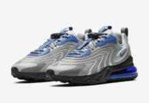 Nike Air Max 270 React ENG Silver Blue CJ0579-001 Release Date Info