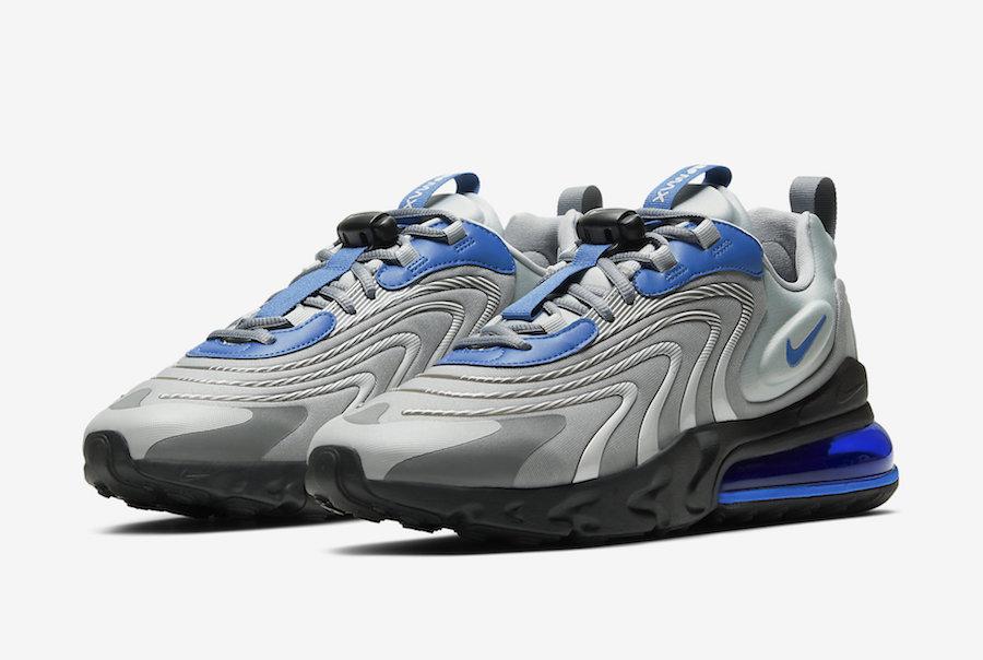 Nike Air Max 270 React ENG Silver Blue CJ0579 001 Release