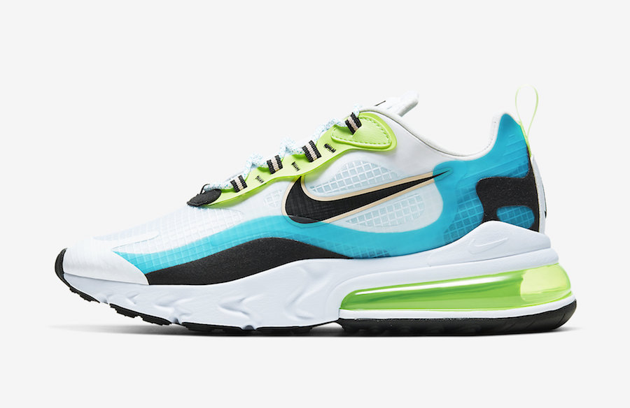 Nike Air Max 270 React Oracle Aqua CJ0579-001 Release Date Info