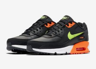 Nike Air Max 90 Black Orange Volt CV9643-001 Release Date Info
