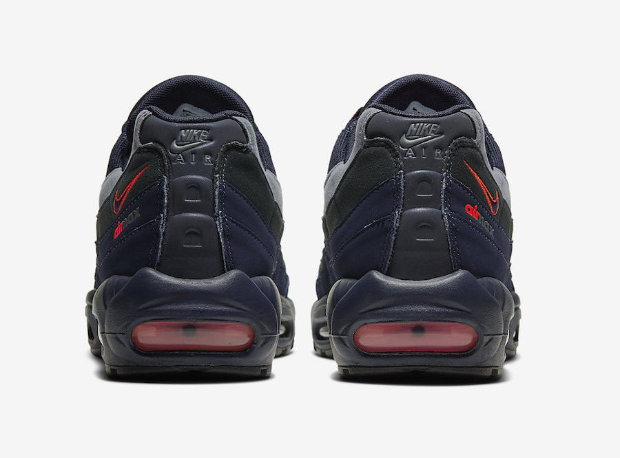 Nike Air Max 95 Navy Anthracite Grey Orange CW7477-400 Release Date Info