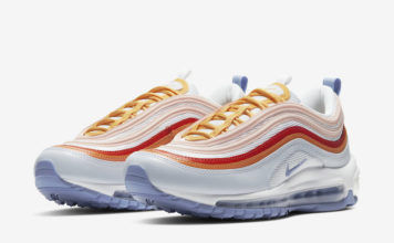 Nike Air Max 97 Red Orange Yellow Lavender CW5588-001 Release Date Info