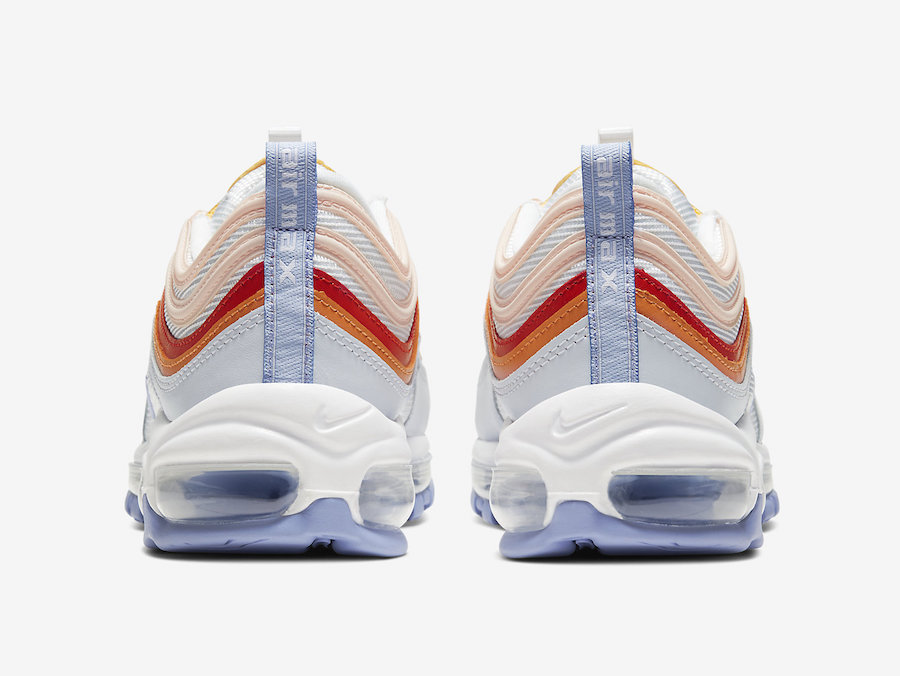 Nike Air Max 97 Red Orange Yellow Lavender Cw5588 001 Release Date