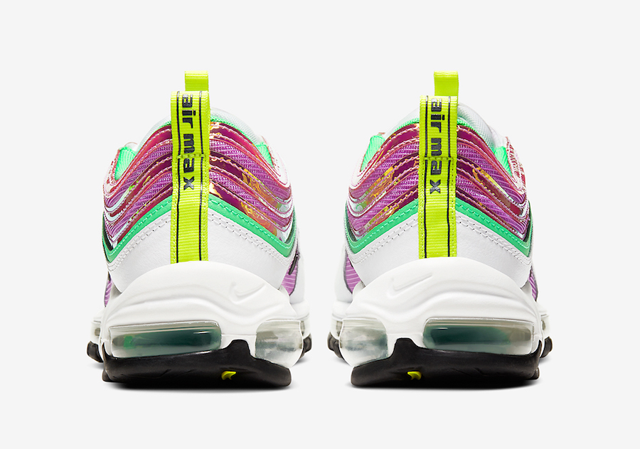 Nike Air Max 97 White Pink Green Gold Yellow CW5591-100 Release Date Info