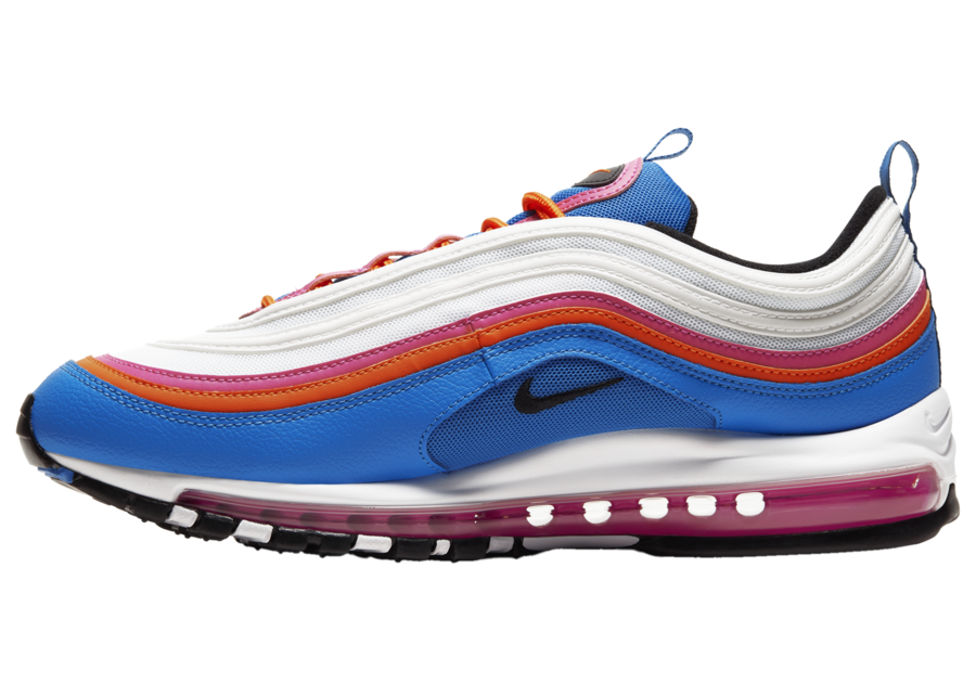 Nike Air Max 97 White Red Pink Blue CW6992-100 Release Date Info