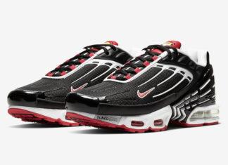 Nike Air Max Plus 3 Black White Red CJ0601-001 Release Date Info