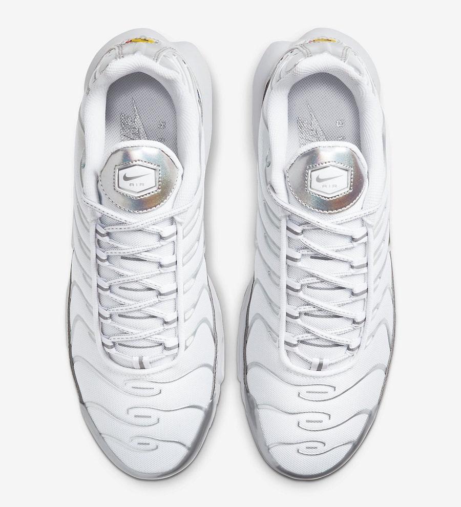 Nike Air Max Plus White Metallic CW2646-100 Release Date Info
