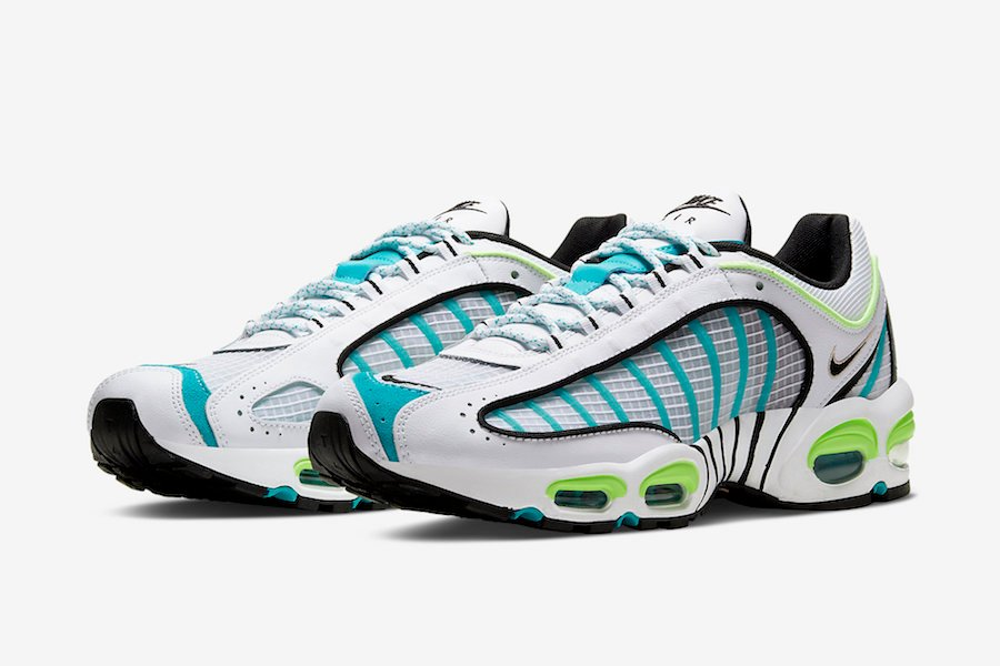 Nike Air Max Tailwind 4 IV White Teal Neon Volt CJ0641-100 Release Date Info