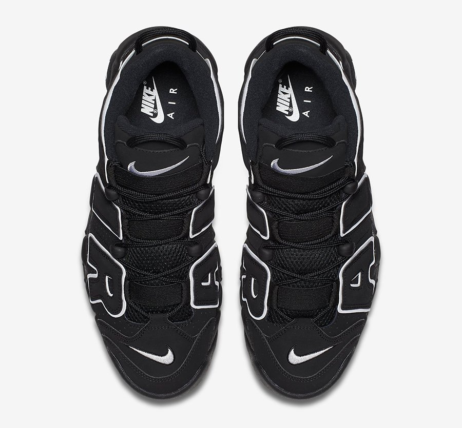 Nike Air More Uptempo OG Black White 2020 414962-002 Release Date Info