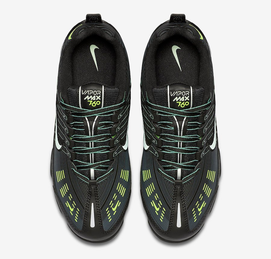 Nike Air VaporMax 360 Black Volt CW7479-001 Release Date Info