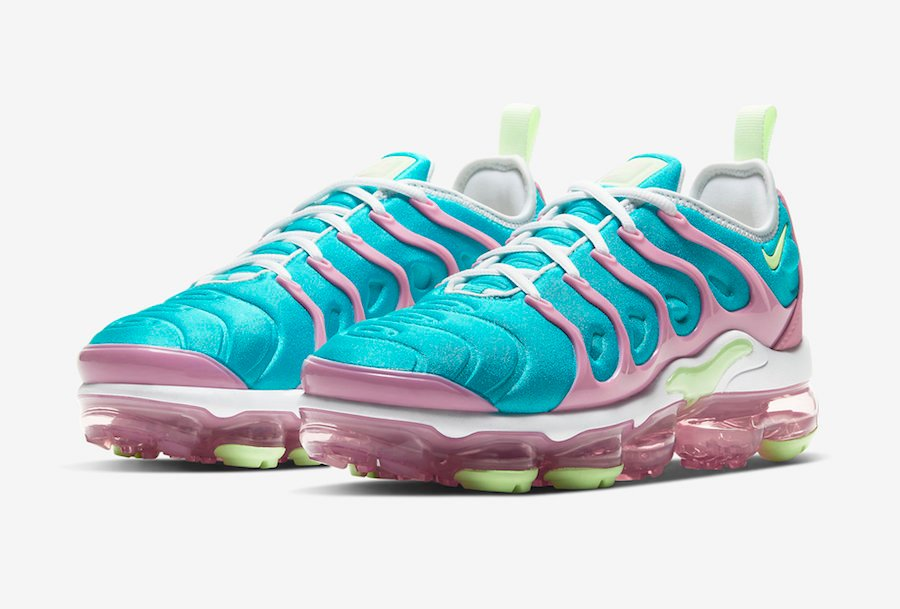 Nike Air VaporMax Plus Blue Pink Lime Green CW7014-100 Release Date Info