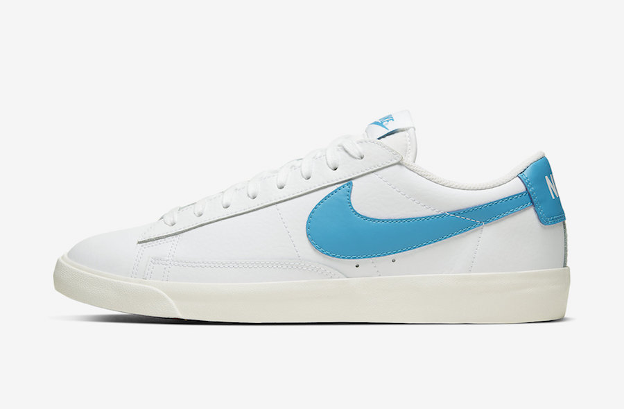 Nike Blazer Low Leather Laser Blue CI6377-104 Release Date Info