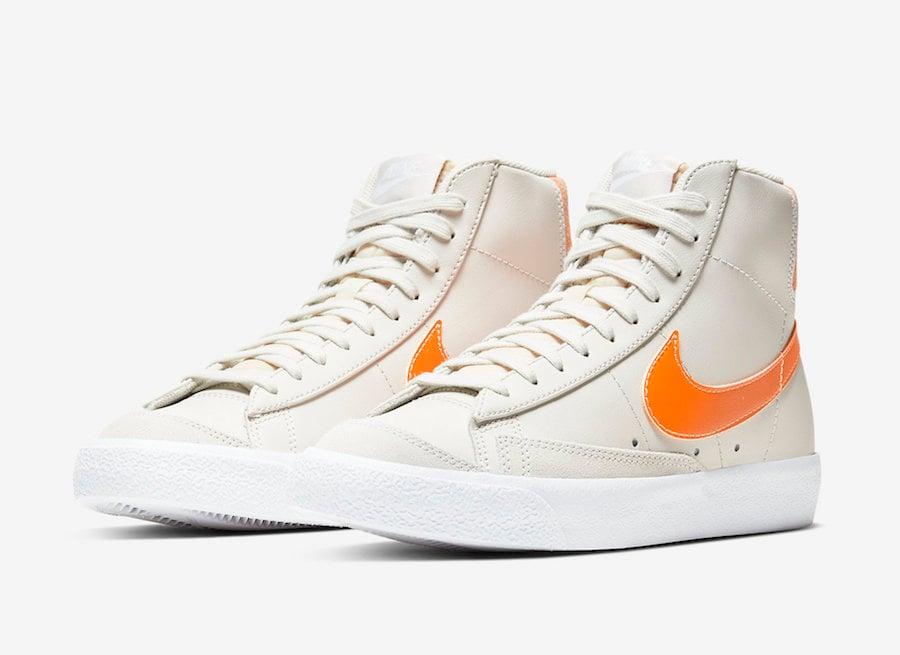 Nike Blazer Mid 77 Vintage Light Bone Total Orange CZ0461-001 Release Date Info