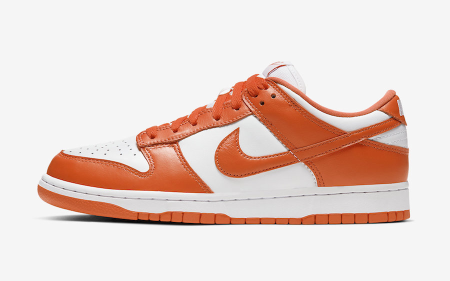 Nike Dunk Low Syracuse Orange White CU1726-101 Release