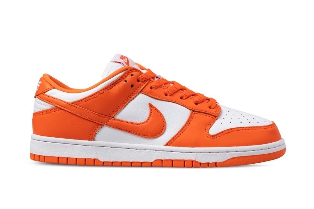 Nike Dunk Low Syracuse Orange White CU1726-101 Release Date