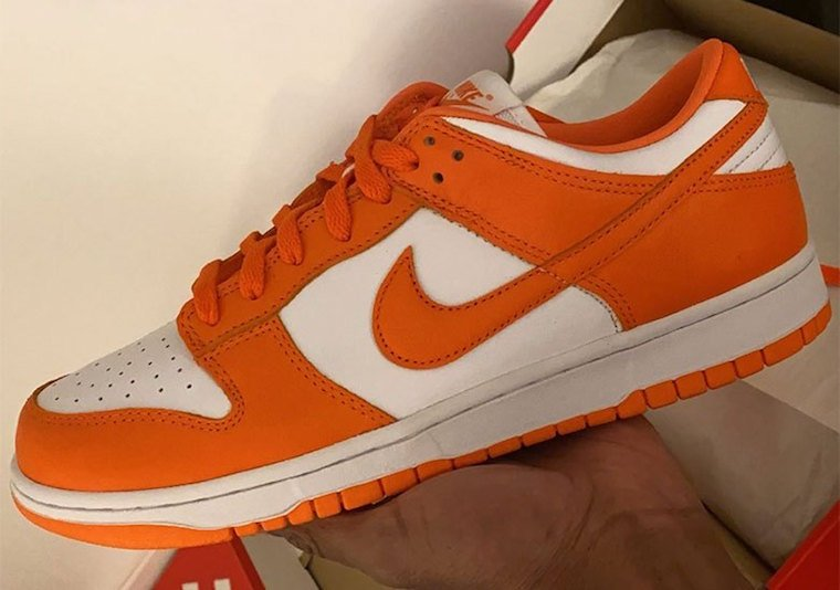Nike Dunk Low Syracuse Orange White Release Date Info