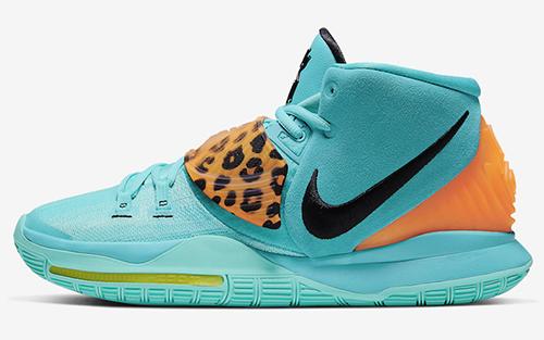 Nike Kyrie 6 Oracle Aqua Animal Print Release Date